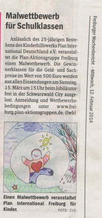 Malwettbewerb an Freiburger Schulen